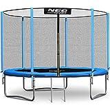 Neo-Sport Trampolin 183 cm 6 ft mit Sicherheitsnetz Außennetz und Einstiegsleiter Gartentrampol