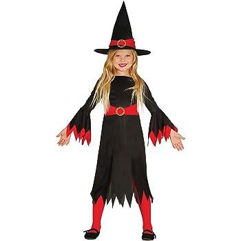 Guirca- Disfraz de bruja, Color negro, 5-6 años (85774): Amazon.es ...