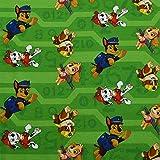 Jersey Paw Patrol, Öko-Tex Standard, Hunde, grün (25cm x