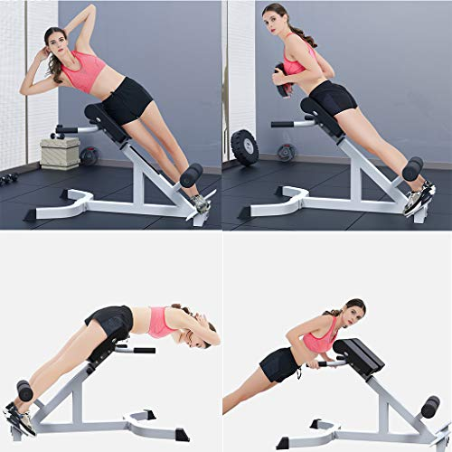 Bench Roman Chair for Full All-in-One Body Workout,Back Hyperextension/Hyper Back Extension,Roman Chair,Adjustable Ab Sit up Bench,Decline Bench,Flat Bench Abdominal Fitness Equipment-U.S.shipping