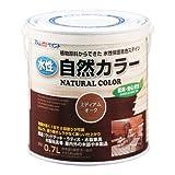 アトムハウスペイント 水性自然カラー 天然油脂ステイン 0.7L ミディアムオーク