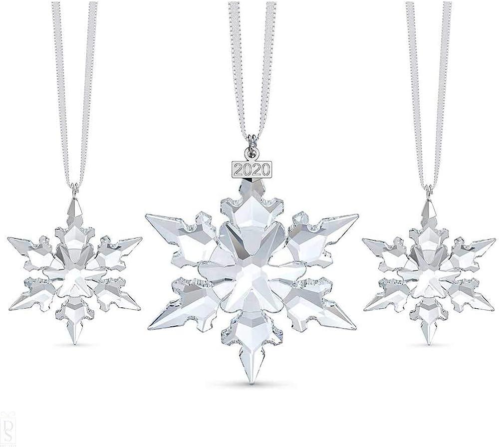 Swarovski snowflake anniversary set di ornamento per il 2020, in edizione limitata per albero di natale 5489234