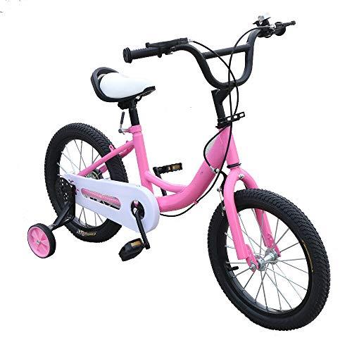 Kaibrite, bicicletta per bambini da 16 pollici, con ruota ausiliaria (rosa)