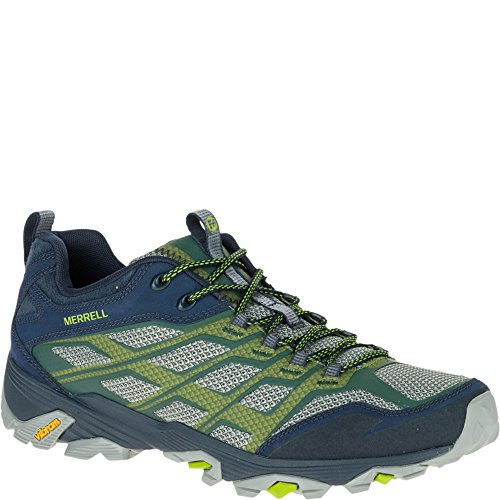 Merrell Men's Moab FST Hiking Shoe, Navy/Green, 9 M US
