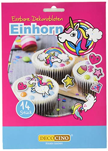 Dekoback Essbare Dekoroblaten Einhorn, 1 Pack (1 x 9 g)