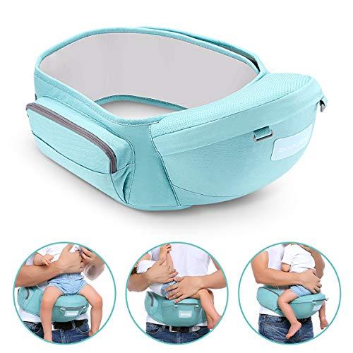 SGODDE Hipseat Marsupio, Ergonomico Neonati Marsupio Sicurezza Supporto, Carrier Porta Bambino, La cintura è regolabile per una lunghezza Massima di 4