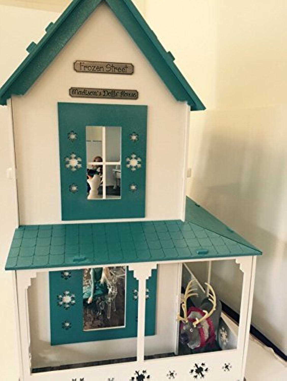 Frozen-Motiv, handbemalt, verziert, Holz Puppenhaus 1 12. Weihnachtsgeschenk B014LEC06M Bekannt für seine hervorragende Qualität     | Neuer Stil