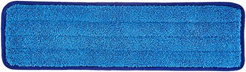 Amazon Basics Microfiber Damp Mop Cleaning Pad, Plain, 18 Inch, 12-Pack