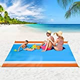 8. BITIANTEAM Beach Blanket Sandproof Beach Mat for 4-7 Adults,Portable Picnic Mat,Sand Free Mat for Travel, Camping, Hiking, Packable w/Bag
