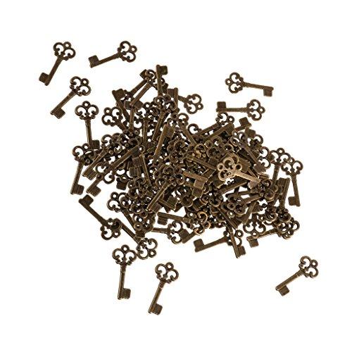 Sharplace 100pcs Vintage Deko Schlüssel Bronze Schlüssel Retro Anhänger für Halskette