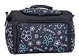 Wickeltasche KIM von Baby-Joy XXXL Übergröße Braun Eule 6 Windeltasche Pflegetasche Babytasche Tragetasche TK-20 Graphit Blumen IV