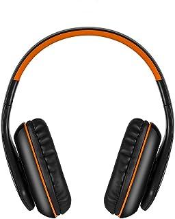 Cimaybeauty Bluetooth Headphones, Wireless Sports Earphones, Headset Foldable with Mic Electronics Audio Earbud HD Stereo Sweatproof in-Ear MP3 MP4 Player (Orange)