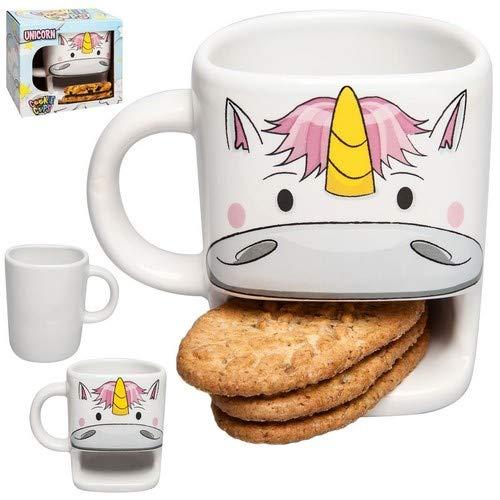 Einhorn Tasse mit Keksfach Tasse Mehrfarbig