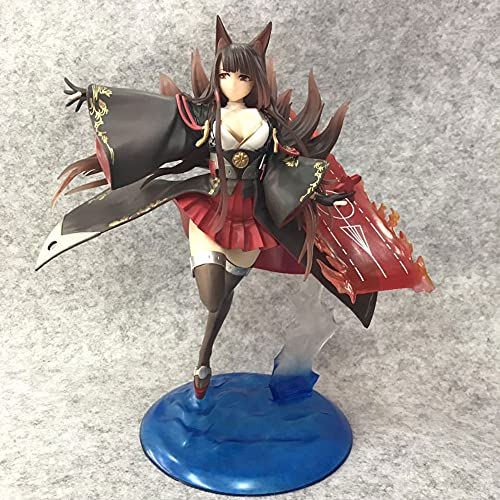 JINFENFG Figura de Anime Azur Lane Akagi 27 CM/Estatua estática de PVC/Figura de Anime de Dibujos Animados/muñeca Modelo de Personaje de Juguete