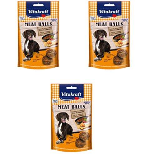 3 Stück Meat Balls Mini-Frikadellen von Vitakraft