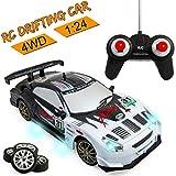 Liberty Imports Super Fast Drift King R/C Sports Racing Car Remote Control Drifting Race Car 1:24 + Headlights,...