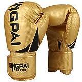 GINGPAI - Guantes de boxeo unisex de piel sintética de gel de alta calidad,...
