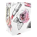 ASDQWE Paws - Cesta para la colada con asas para guardar ropa, juguetes en el dormitorio, baño, plegable, Perfume con lápiz labial y brocha de maquillaje., 19.3x11.8x15.9 in/49x30x40.5 cm
