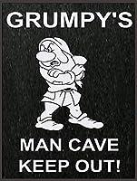 不機嫌そうな男の洞窟は、ティンサインの装飾ヴィンテージ壁金属プラークカフェバー映画ギフト結婚式の誕生日の警告のためのレトロな鉄の絵