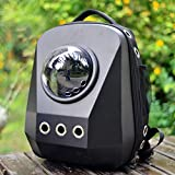 Gulunmun Bolsa para Mascotas Pet Cat Mochila Space Capsule Astronaut Carrierl Ventana de Burbuja Transpirable para Kitty Puppy Capacidad 6-8kg Enviar Pet Comb-Black