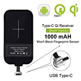 Nillkin Qi Wireless Charger Receiver - 0.16cm Ultra Thin Magic Tag Wireless Charging Receiver Chip for Google Pixel 2XL,Galaxy A20,LG stylo 4/5,Moto G7,OnePlus 6/6T/7 Pro and Other Type C Phones