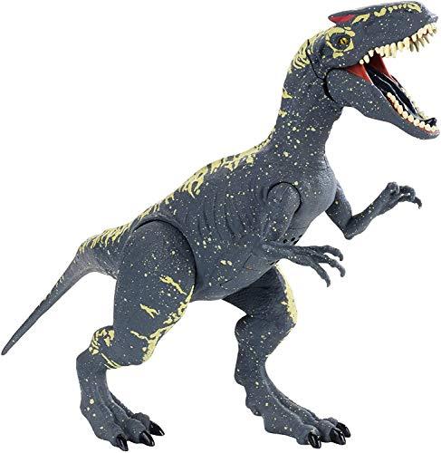 Ltong Jurassic World Roarivores Allosaurus Simulación Articulación De Plástico Movable Prehistoric Animal Model Boy Gift Ornaments-Blue-33 Cm