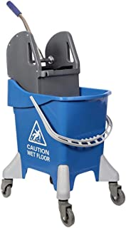 Eclat Mop Bucket with Wheel and Wringer - 25 Liters, Blue