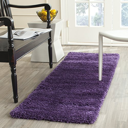 Safavieh Milan Shag Collection SG180-7373 2-inch Thick Area Rug, 2' x 4', Purple