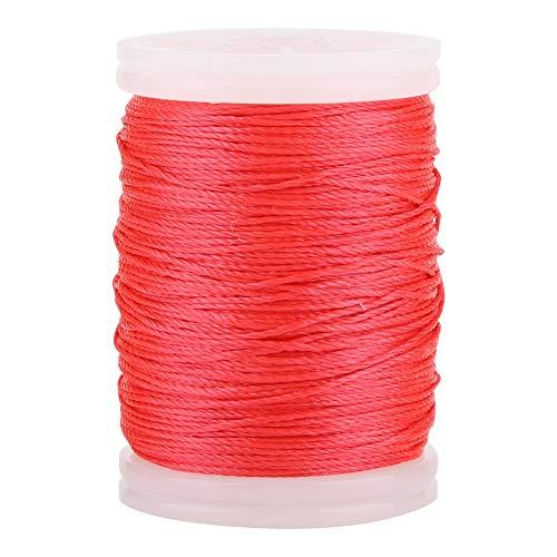 Alomejor Bogenschnur Servierfaden Bogensehne Sehnengarn Haltbare Nylonschnur Verwendung für Bogenschießzubehör(Rot)