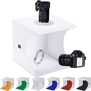 Mini Photo Studio Tent Jewelry Light Box Kit, SENLIXIN Portable Foldable Small Home Photography Studio Light Box Booth Shooting Tent with LED Light Strips - With 6 Color Back (20x20x20cm Photo Studio)