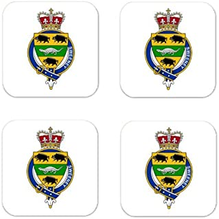 Sweeney Family Crest Square Coasters Coat of Arms Coasters - Set of 4
