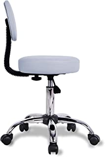 medical stool with back support