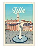AZSTEEL Poster Lille La Grand'Place | Poster No Frame Board