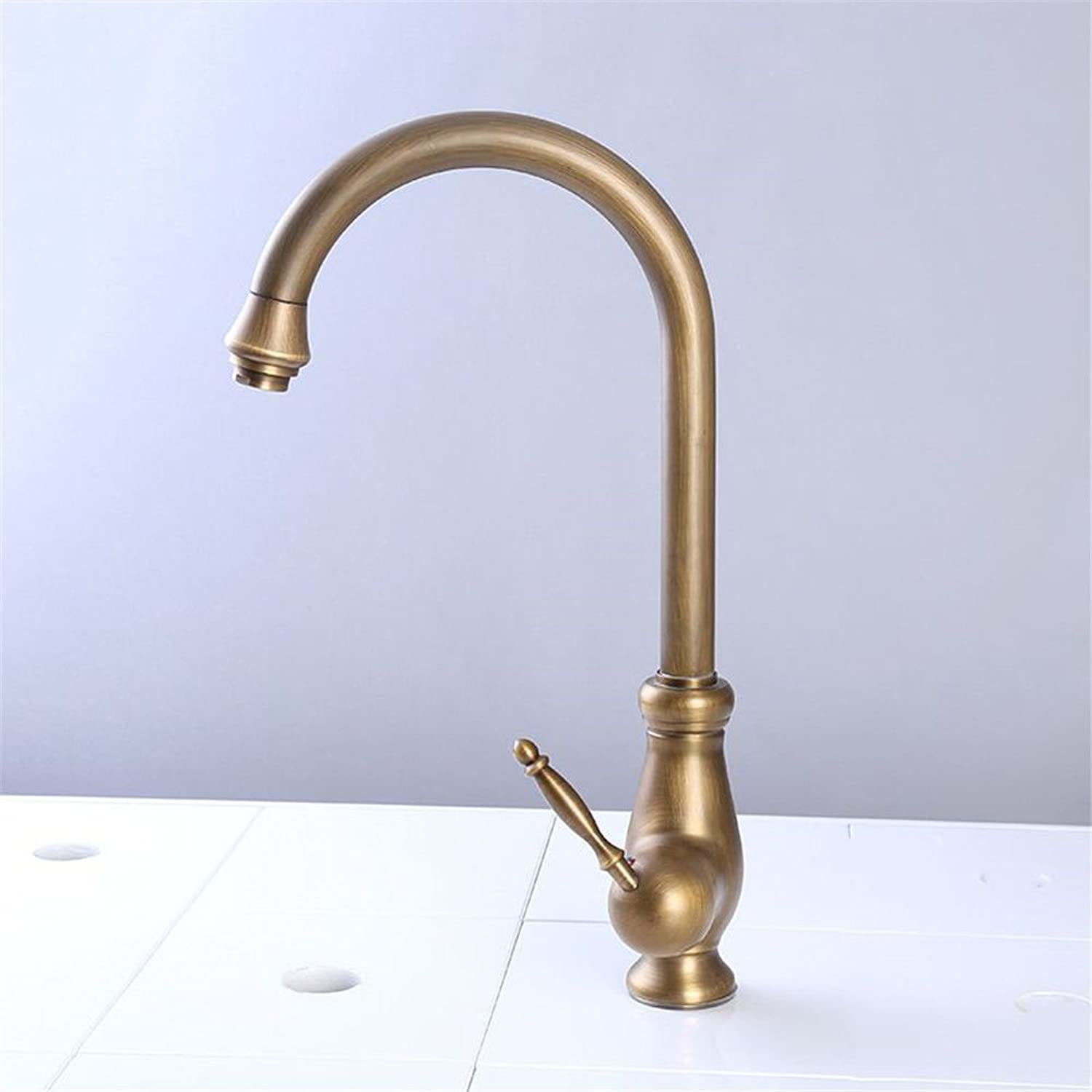 Hlluya Professional Sink Mixer Tap Kitchen Faucet The copper kitchen faucet to wash dishes pool faucet sink mixer mixing of hot and cold water valve redation single hole single lever faucets,