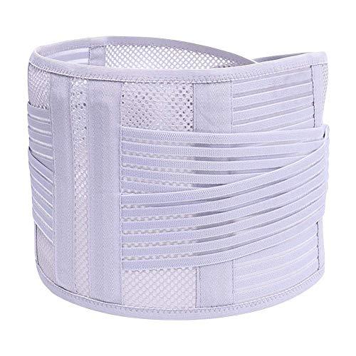 Afittel0 Fitness Gürtel, Verstellbar Doppel Zug Lumbal Bandage Niedriger Rücken Gürtel Leicht Material Breit Stütze Für Lifting Arbeit Fitness - grau, Medium