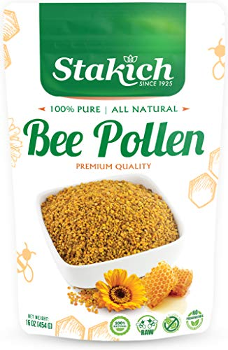 Stakich Bee Pollen Granules 1 Pound (Pack of 1)