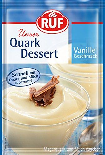 RUF Quark-Dessert Vanille fertig in 3 Minuten, 20er Pack (20 x 55 g)