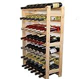 Modo24Étagère à vin en Bois, Non traité, Bois, unbehandelt, 63.0 x 25.0 x 102.0...