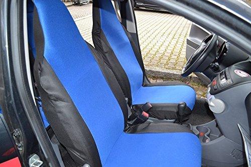 Complete set op maat gemaakte stoelhoezen hoezen polyester blauw zwart nieuw passend