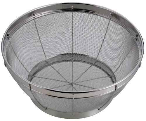 Pearl Aqua Splash Stainless Steel Kitchen Colander 40cm H-9269 (Japan Import)