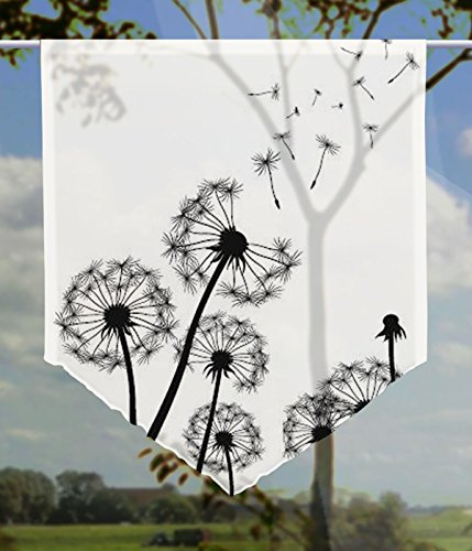gardinen-for-life Scheibenhänger Dandelions Transparent, Edler Scheibenhänger aus Feiner Voile in Verschiedenen Größen (HxB 75x60cm)