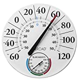 Headwind Consumer Products 840-1212 EZREAD Dial Thermometer/Hygrometer, White
