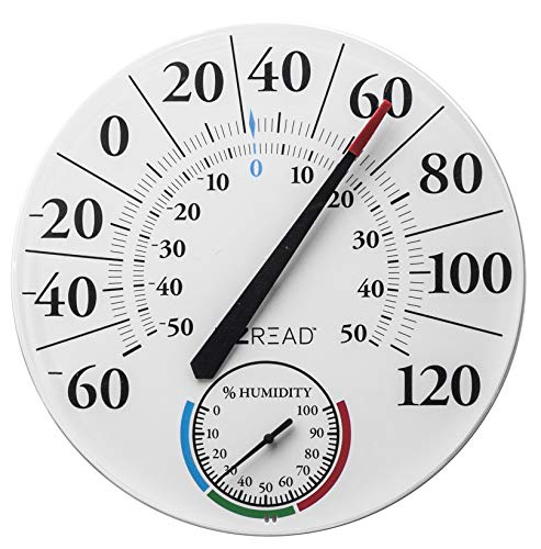 Headwind Consumer Products 840-1212 EZREAD Dial Thermometer Hygrometer, White