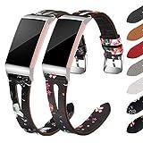 Supore Cinturino Compatibile per Fitbit Charge 3/Fitbit Charge 4 Cinturini in Pelle, Cinturini Classico Sportivo di Ricambio Regolabile Regolabile per Uomo Donna, PelleNera/Grigia+PelleNera/Rossa