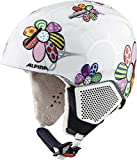 ALPINA Carat LX Casque de Ski pour Fille Patchwork/Flower 46-48 cm