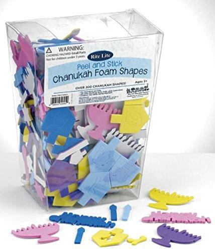 Hanukkah Foam Stickers Peel & Stick Chanukah Foam Shapes