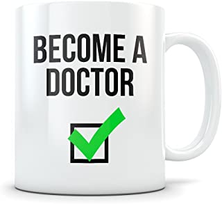 Doctor Graduation Gifts - Doctoral Congratulations Mug - Gifts for Med School Graduates or Medical Residency- Funny Gift Idea for Grad Students Graduating from a University PHD Program