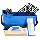 Kit set di strumenti professionali piastrellista piastrellista Grout Sponge float secchio rulli Kubala
