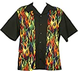 Tutti Retro Bowling Shirt with Flame Front Panels (XX)