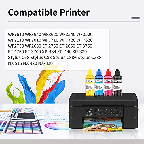JETlifetech Tinta de sublimación para Epson Impresora WF7720 WF7710 WF7610 WF7010 WF7110 WF7210 C88+ C88, 100ml / Botella, Transferencia por prensa de calor en tazas, almohadas, platos, etc.